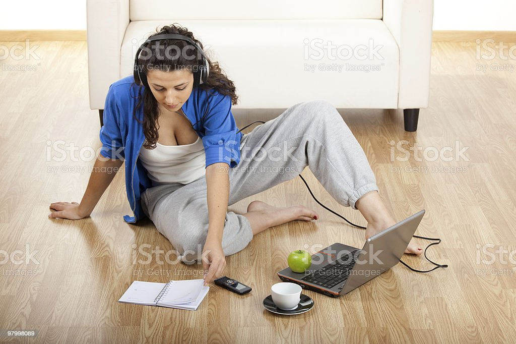 Working at home royalty free stockfoto
