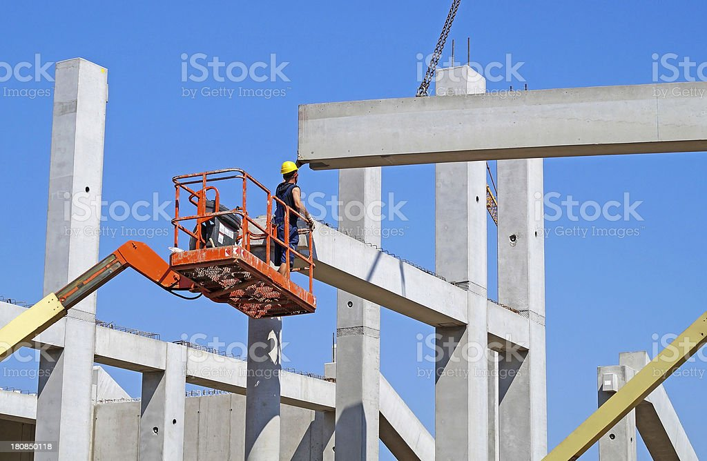 working at the construction site royalty-free stock photo