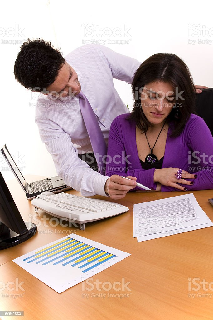 Working at the office royalty-free stock photo