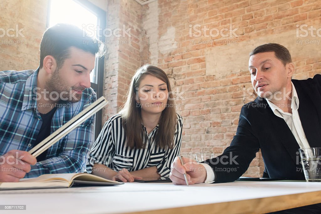 Working Atmosphere stock photo