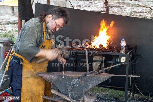 istock Working blacksmith 520263533