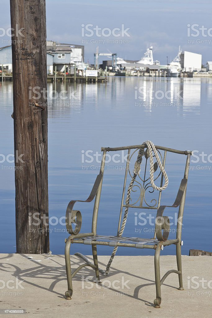 Working Boat Dock royalty-free stock photo