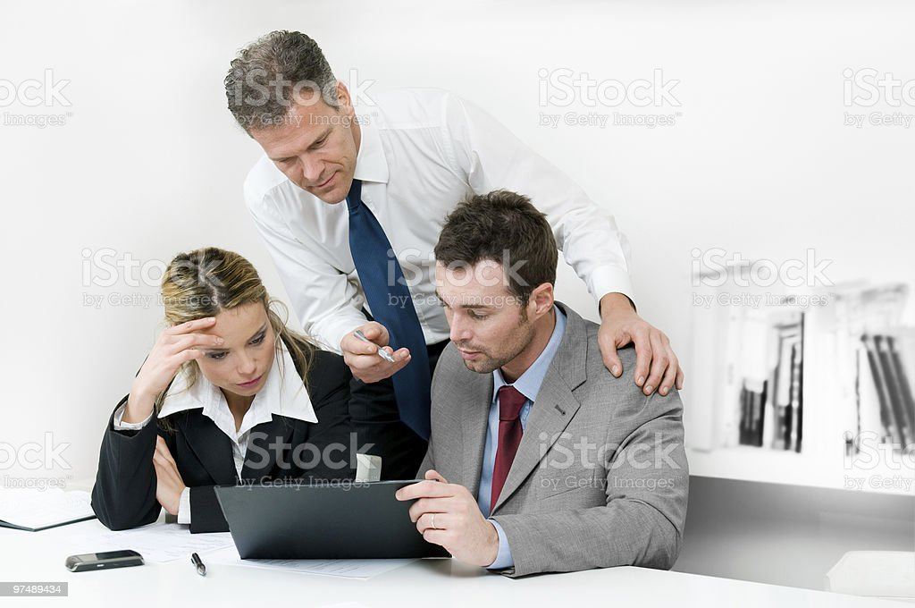 Working business meeting royalty-free stock photo