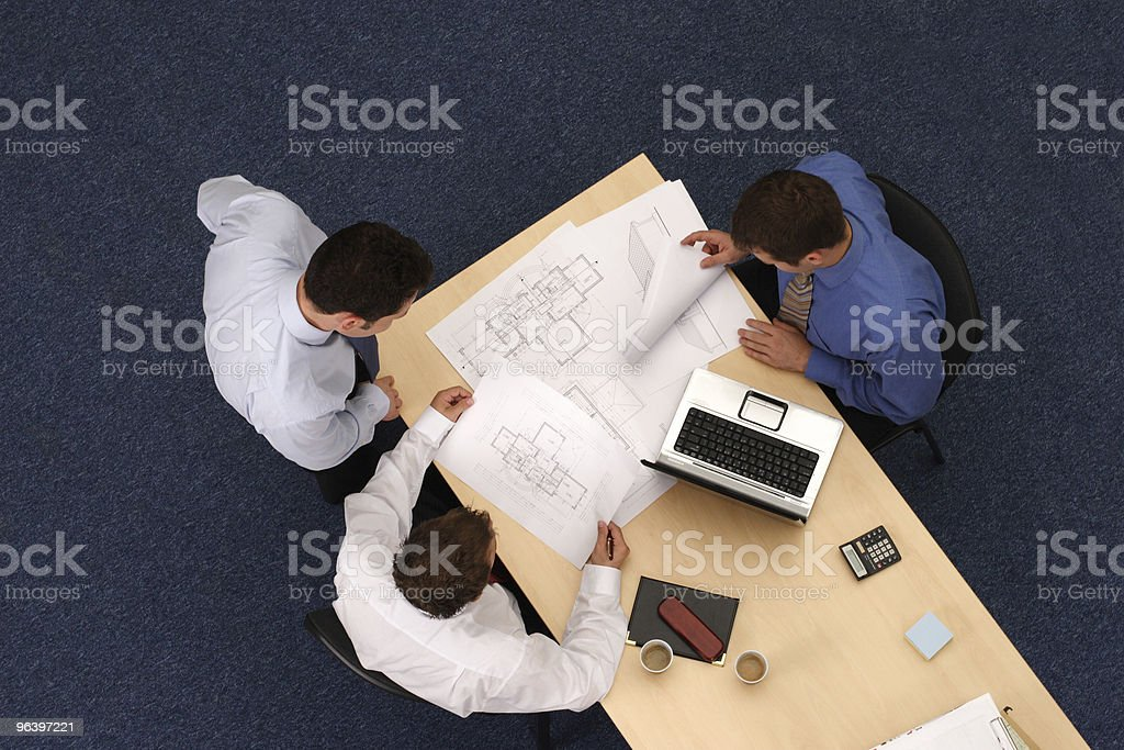 Working business men royalty-free stock photo