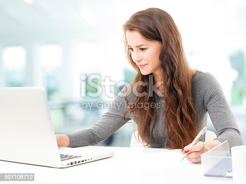 istock Working businesswoman 507108712