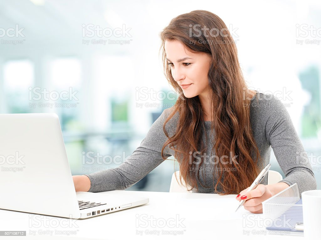 Working businesswoman stock photo