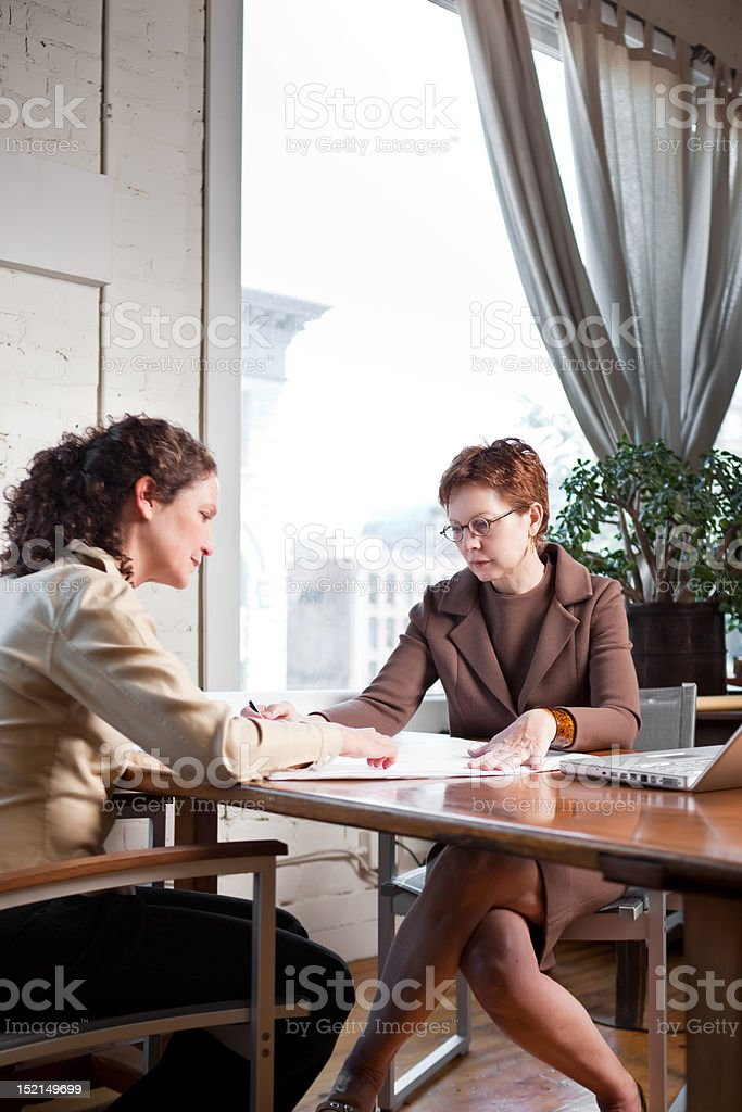 Working businesswomen royalty-free stock photo