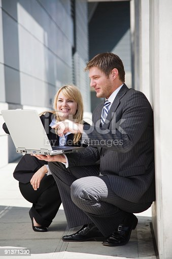 istock Working caucasian business people 91371390