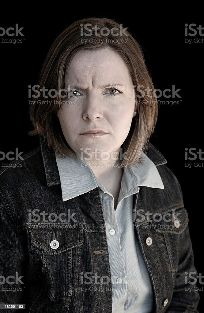 Working Class Anger stock photo