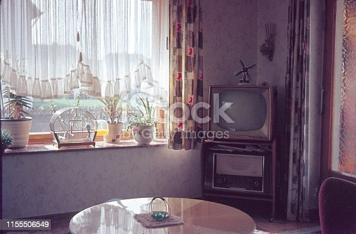 Berlin (West), Germany, 1967. Working class living room in a Berlin workers district.