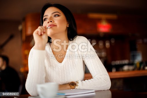 istock Working comfortably at a cafe 949589902