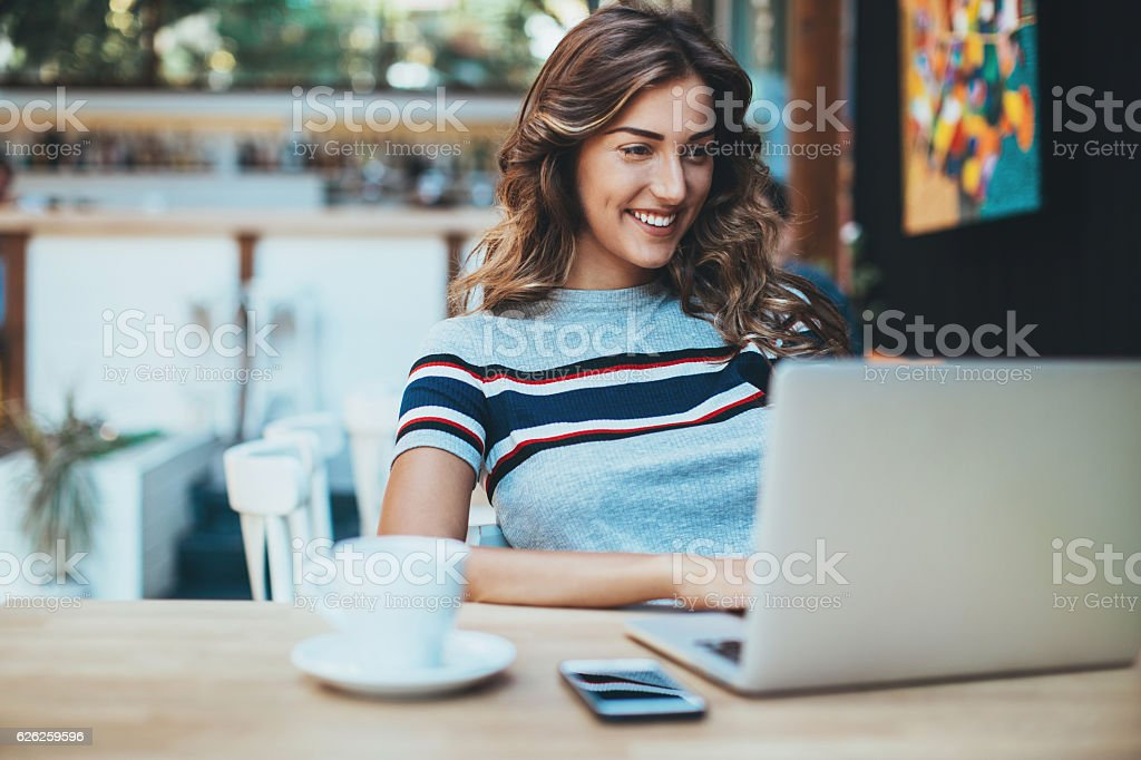 Working comfortably stock photo
