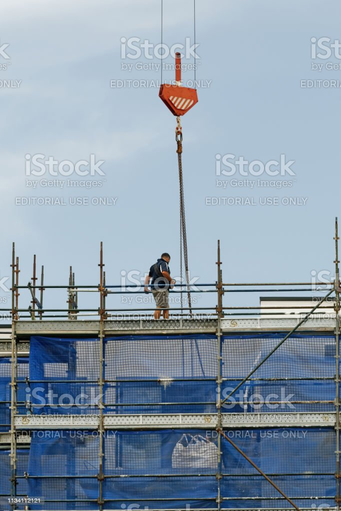 Working construction crane. Update 178. Gosford. January 2019. stock photo