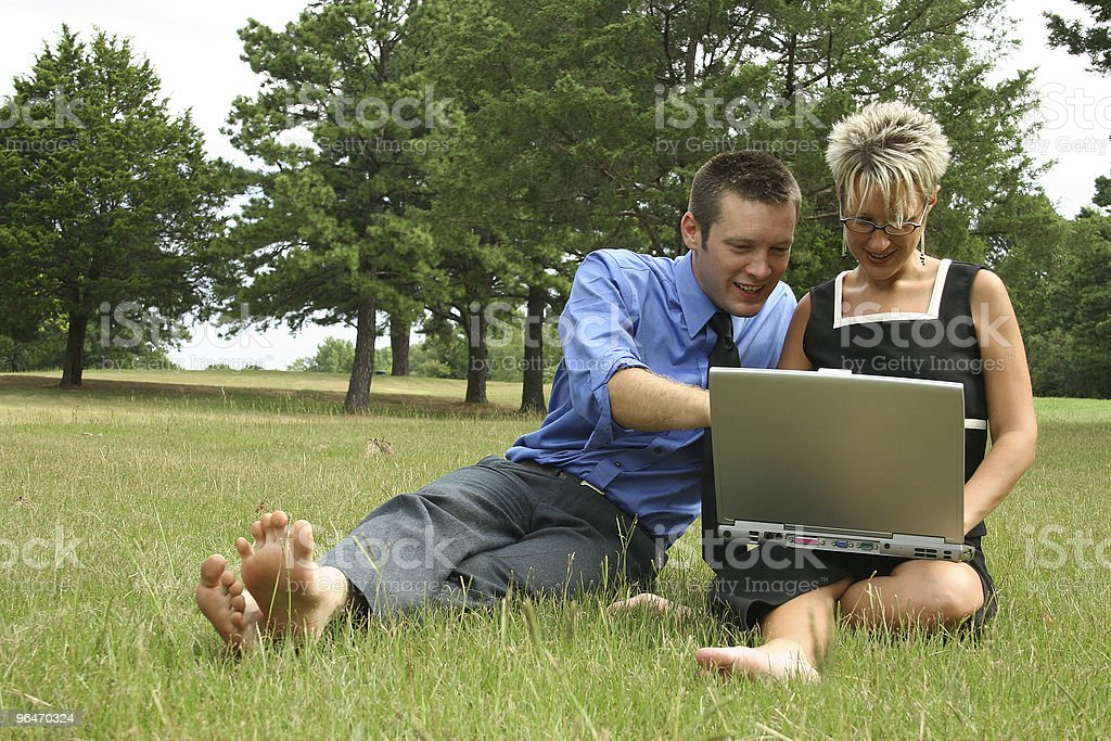 Working Couple royalty-free stock photo