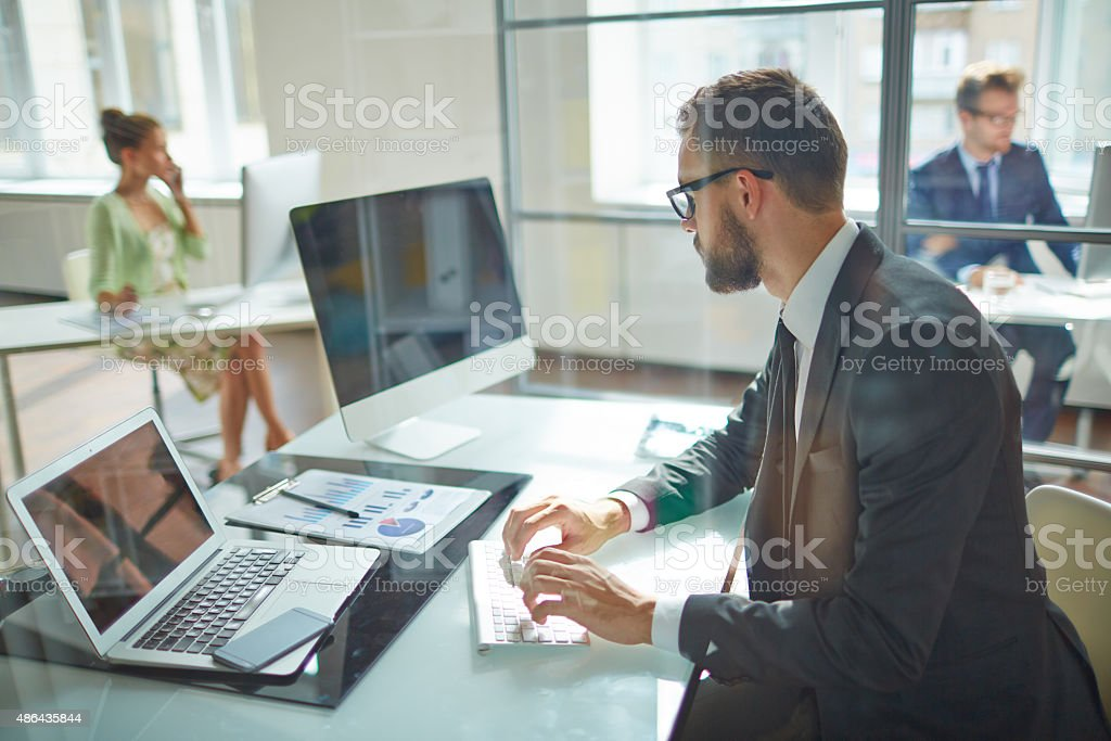 Working day stock photo