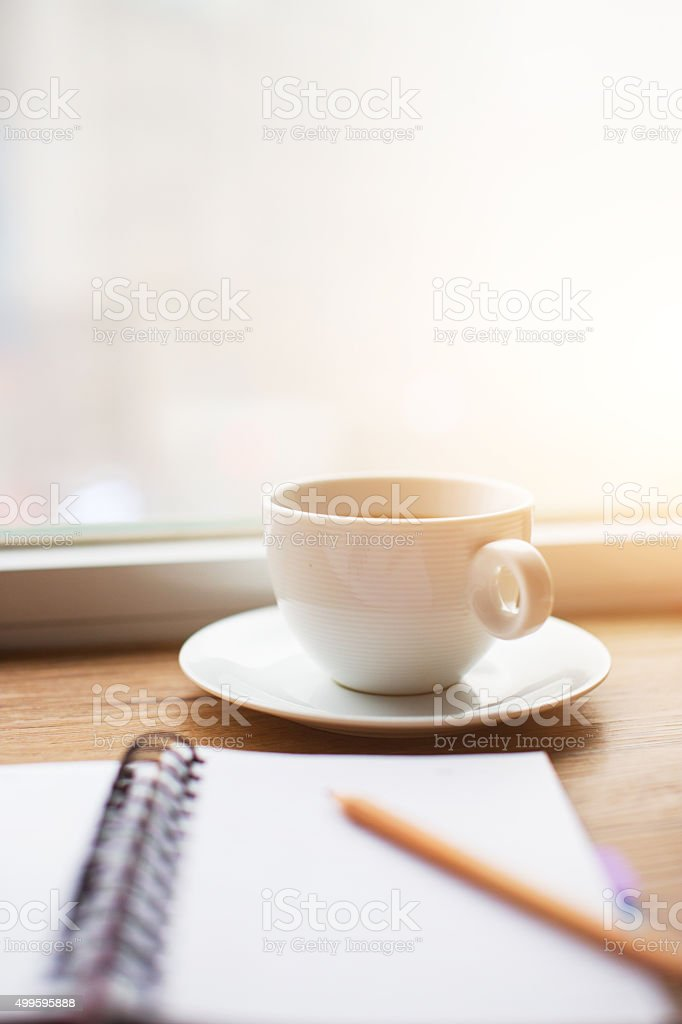 working desk stock photo