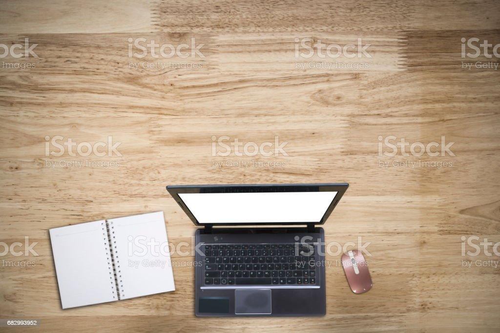 Working Desktop with Laptop. royalty-free stock photo