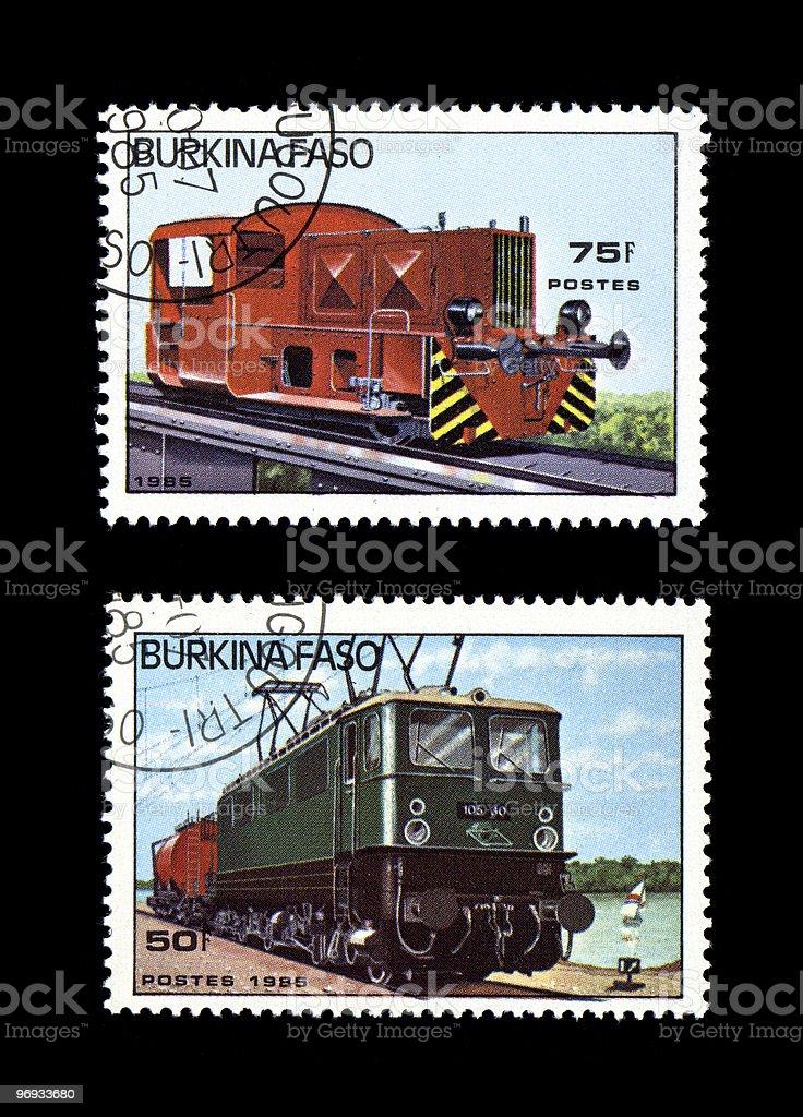 Working Diesel Locomotives royalty-free stock photo