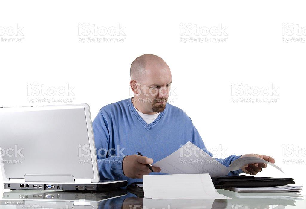 Working employee stock photo