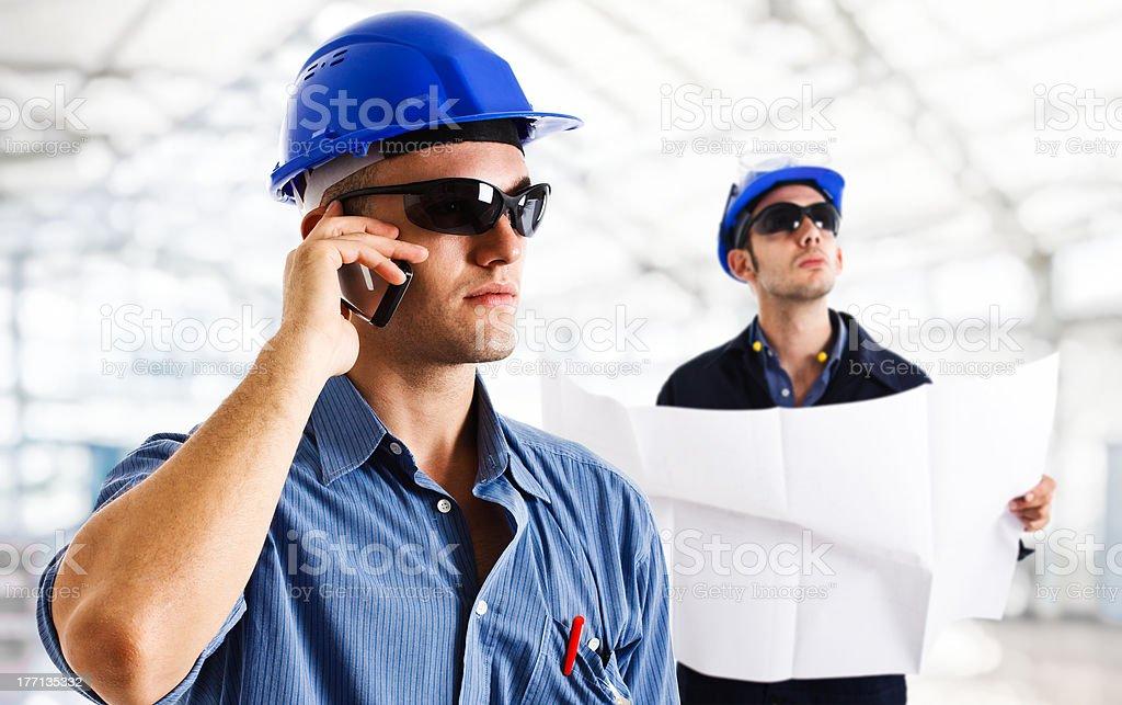 Working engineers royalty-free stock photo