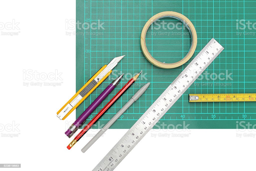 Working equipment , stationery stock photo