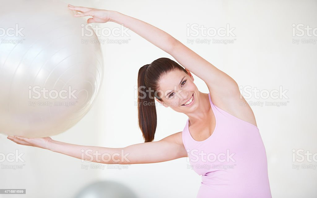 Working every muscle stock photo