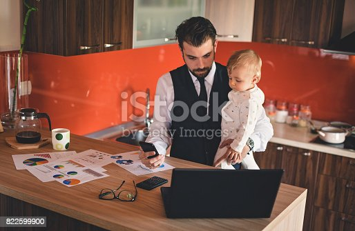 istock Working father 822599900