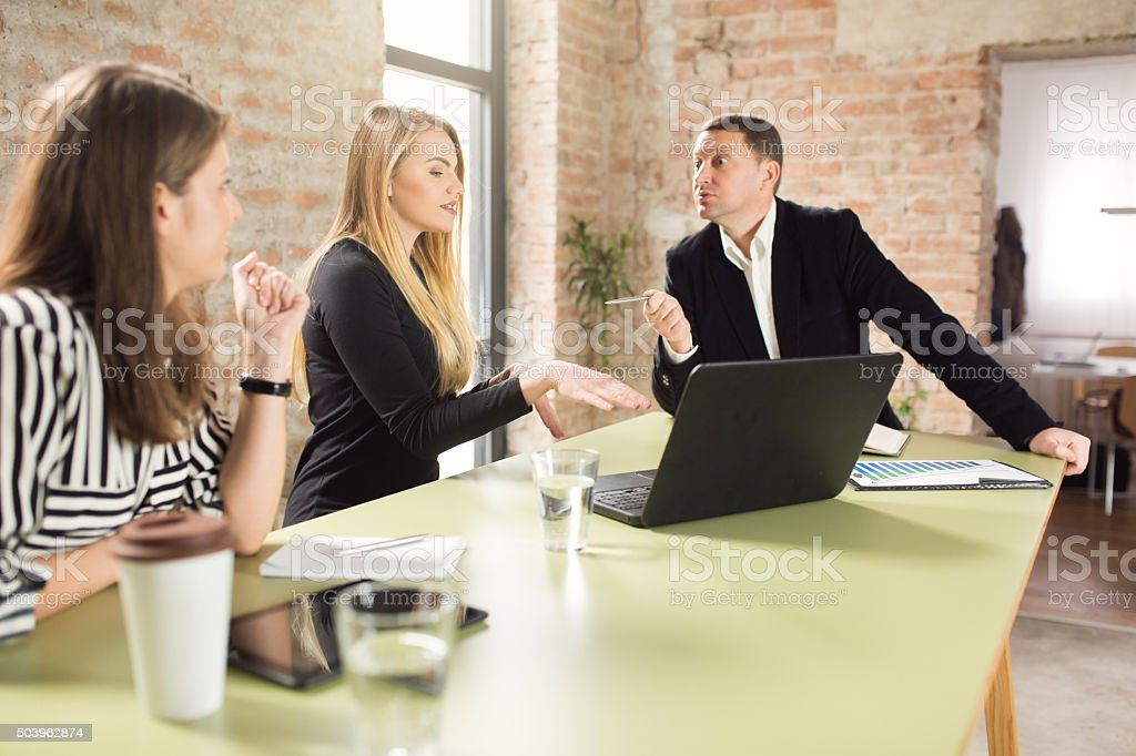 Working For A Tough Boss stock photo