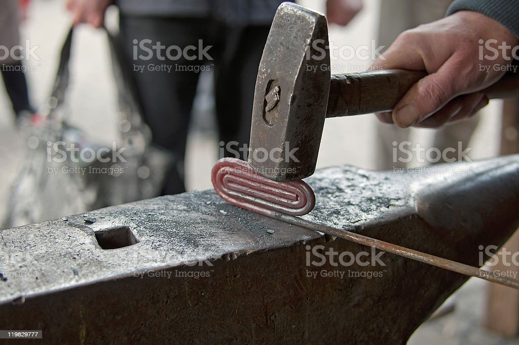 Working forger royalty-free stock photo