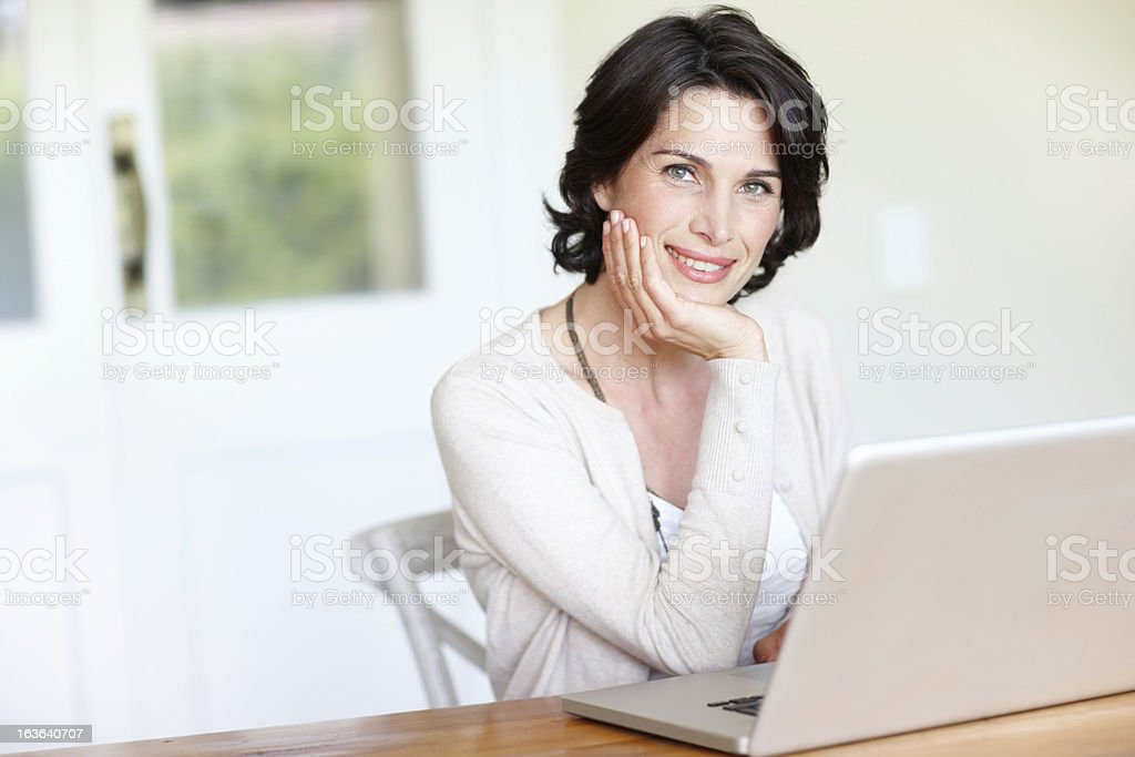 Working from home is so relaxing royalty-free stock photo
