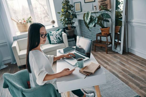 Arbeiten von zu Hause aus. – Foto