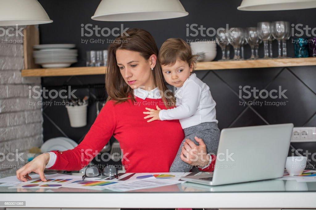 Travaillant de la maison photo libre de droits