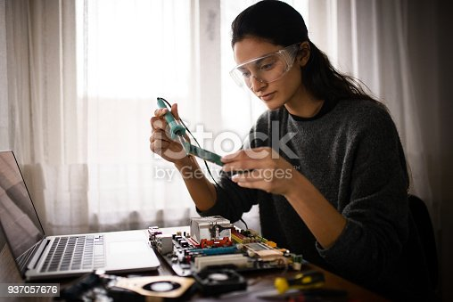 istock Working from home. 937057676