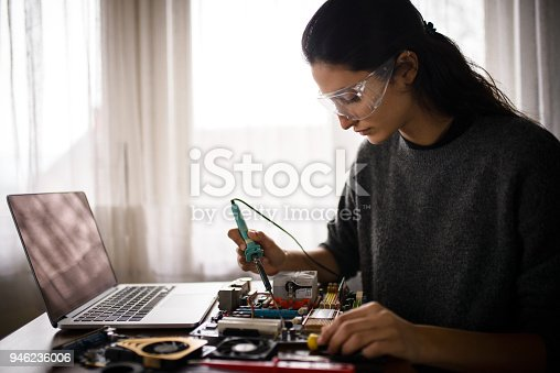 istock Working from home. 946236006