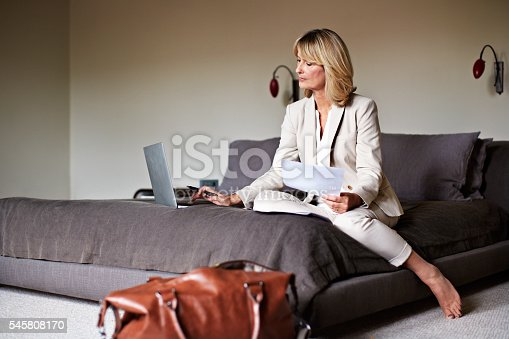istock Working from the comfort of the hotel 545808170