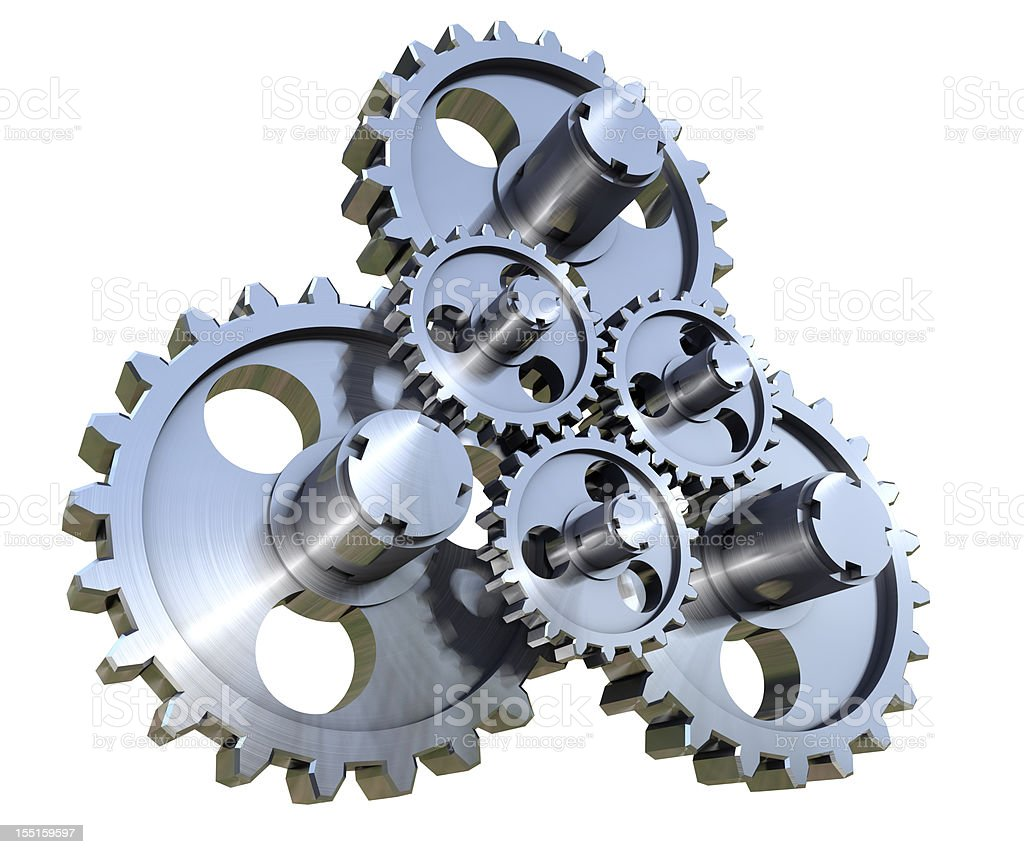 Working gears stock photo