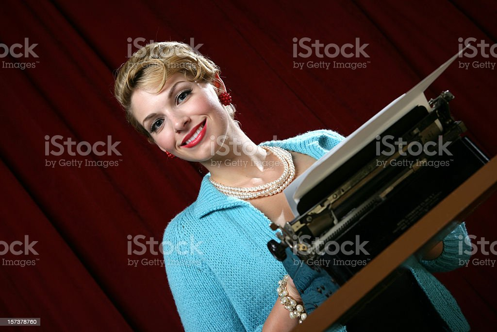 Working Girl royalty-free stock photo