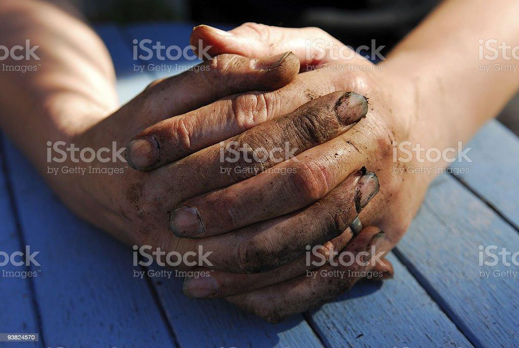 Working Hands. stock photo