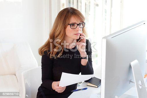 istock Working hard at office 529659710