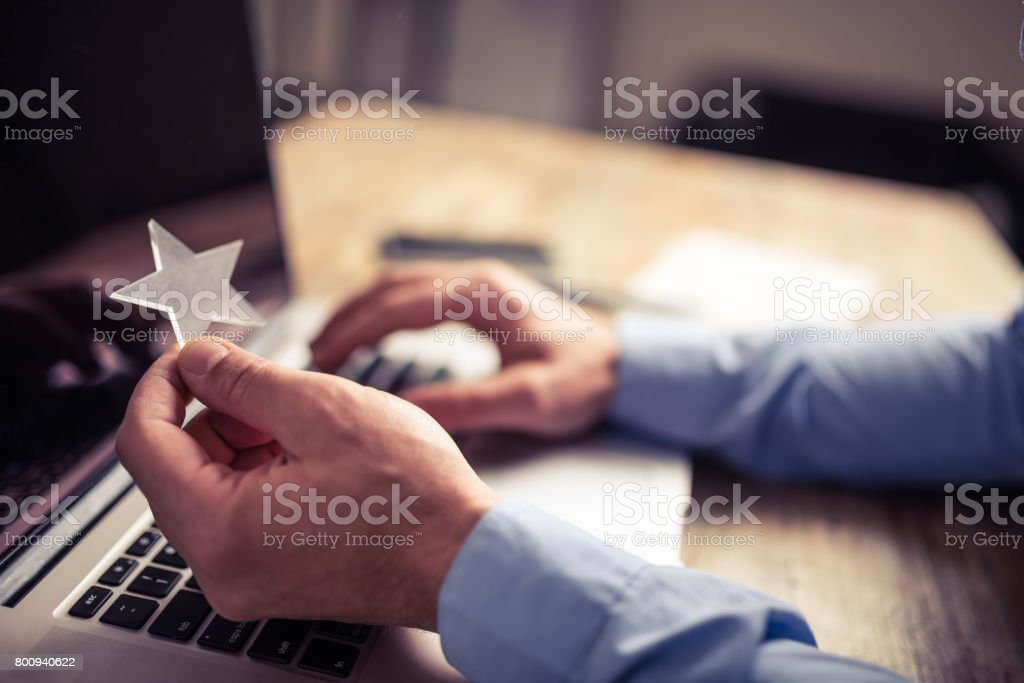 Working hard for every star stock photo