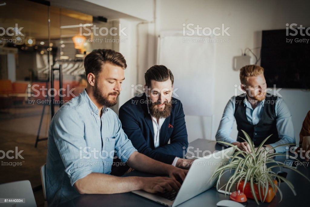 Working hard to achieve the unthinkable stock photo