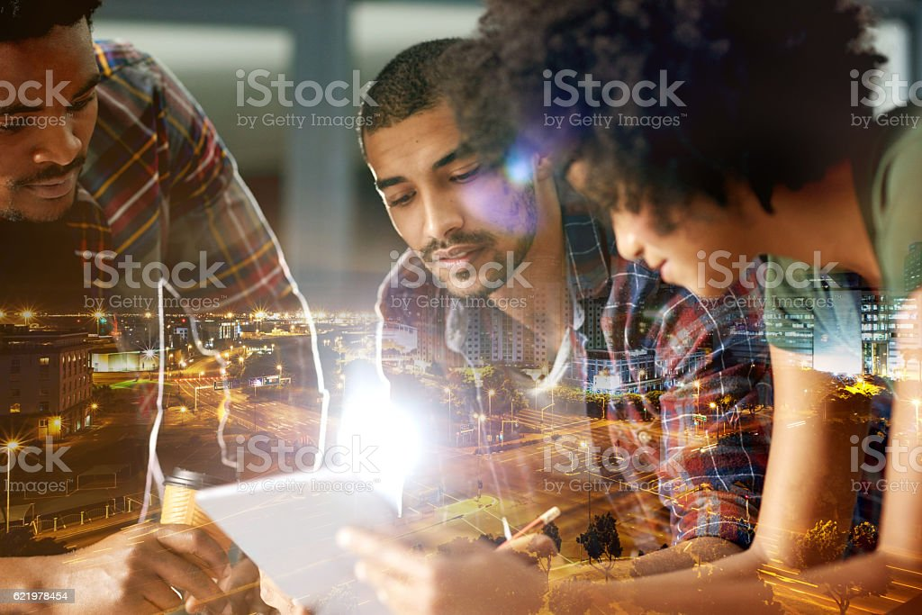 Working harder, working smarter stock photo