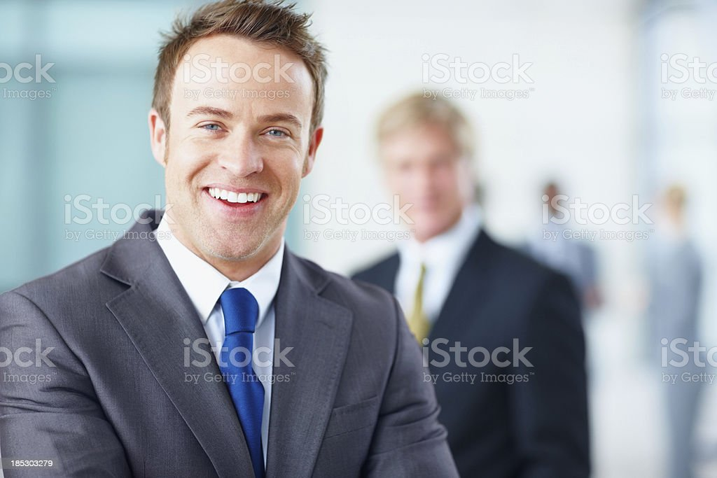 Working his way to the top! royalty-free stock photo