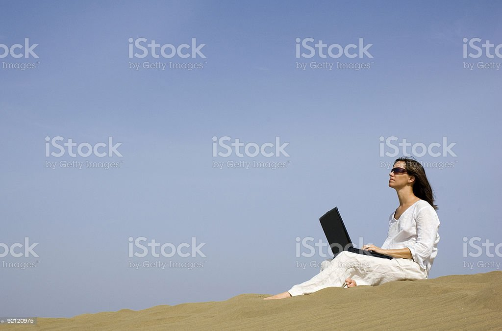 working holiday stock photo