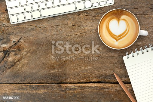 istock Working hour with coffee,computer and note 868457920