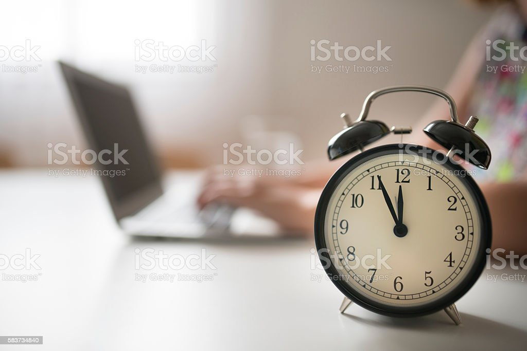 Working hours stock photo