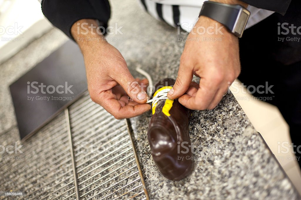 Working in a confectionery royalty-free stock photo