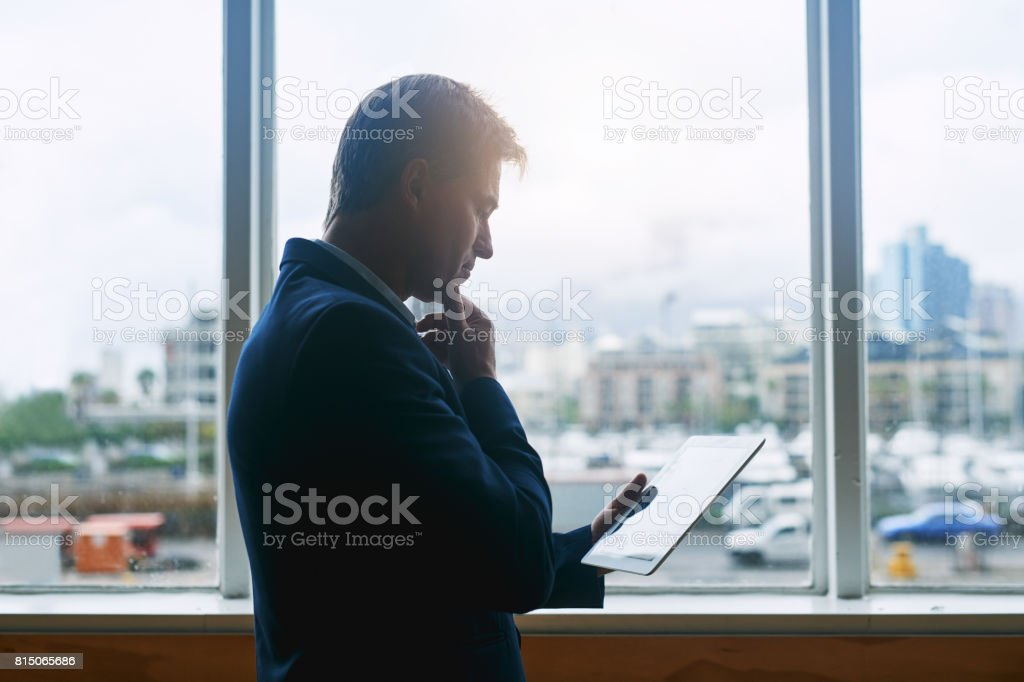 Working in a global and mobile business world stock photo