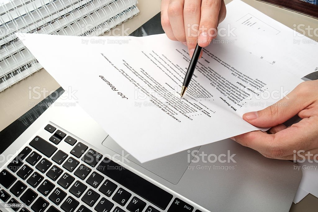 Working in a home office stock photo