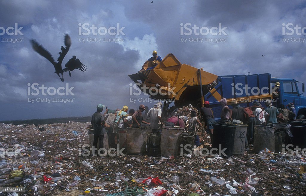 Working in a landfill 5 royalty-free stock photo